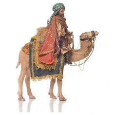 Re magio bianco a cammello 13 cm Angela Tripi | vendita online su HOLYART