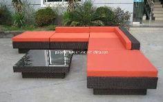 Garden Patio Outdoor Furniture Leisure Wicer Rattan Sofa Set (PAS-3142)