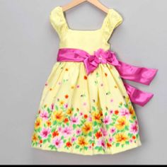 Yellow Easter dress from Zully