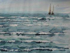 ..: Aquarellissime : pas à pas : vagues :..