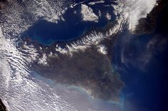 Sicilia, Foto dallo spazio scattata dallo spazio da Samantha Cristoforetti