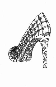 Shoe Zentangle