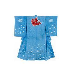 "Long panel Vintage Japanese Kimono Silk FabricLight Grey Crepe stenciled 63/"""