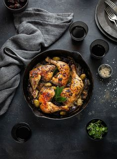 Chicken Marbella the classic dish with with dates, capers