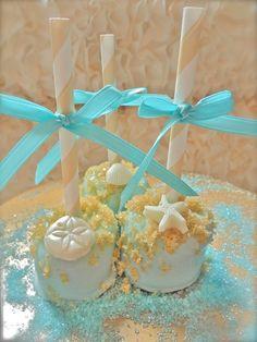 1b8e81f1dbef Edible Wedding Favors Beach Seashells Chocolate Dipped Marshmallows Frost  The Cake. Beach Bridal ShowersBeach ...