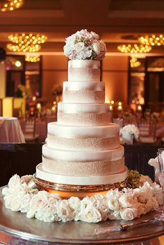Fab gold ombre cake! Photo by Sarah Kate, Photographer. #wedding #cake #gold