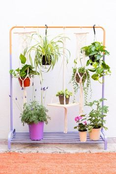 Backyard Decor Ideas, Outdoor Hacks for Summer – Top Trend – Decor – Life Style Hanging Plants Outdoor, Hanging Plant Wall, Diy Hanging, Hanging Planters, Indoor Plants, Indoor Gardening, Organic Gardening, Indoor Outdoor, Hanging Gardens