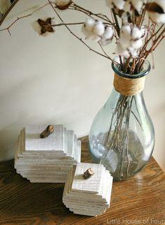 DIY rustic pumpkins from pallet wood. -Littlehouseoffour.com