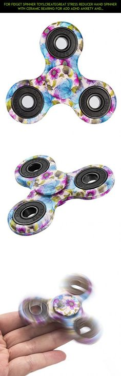 For Fidget Spinner Toys,CreateGreat Stress Reducer Hand Spinner with Ceramic Bearing For ADD ADHD Anxiety and Autism Adult Kids,Flag for Spinner Fidget #tech #gadgets #plans #bearings #technology #shopping #parts #drone #camera #plastic #spinner #no #fpv #racing #products #kit