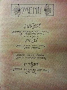 summer ball menu design