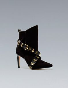 DECORATED HEEL ANKLE BOOT - Shoes - Woman - ZARA United States
