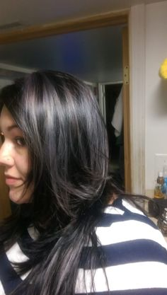 Photo of Barbara&Barbara - Chicago, IL, United States. And there you have it! Sfot lavender highlights with dark chocolate