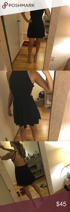 Free people dress! Black dress cute for any casual event! Amazing condition only worn once! Material is cotton. Free People Dresses