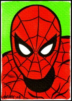 Spiderman I would change the background color to blue!