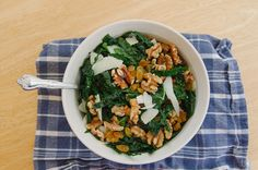 Kale Salad With Golden Raisins, Walnuts & Pecorino | So...Let's Hang Out