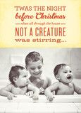 Sweet Street Gals for Cardstore | Twas the night before Christmas #photocard #holidaycard