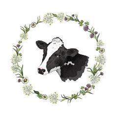 Design element for a milk farm #cow illustration... - half-full-half-empty