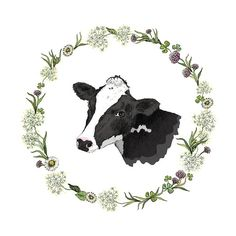 Design element for a milk farm #cow illustration... - half-full-half-empty