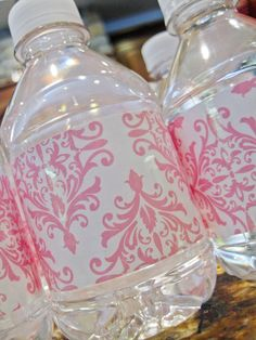 Seriously Daisies: Pink & Gray Baby Shower {Food & Drinks Bar} - clear packing tape!!