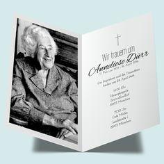 einladungskarte zur trauerfeier drucken - stille gedanken, Einladungen
