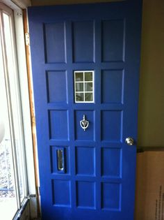 Doctor Door. Wonder if the husband would let me do this...