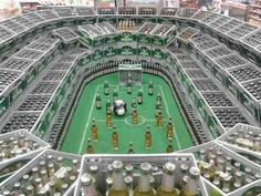 Football beer stadium