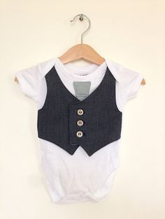 Baby boy clothes 0 to 3 months, newborn boy vest and tie, baby photo prop, upcycled baby clothing, baby suit, Etsy