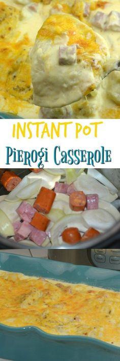 Pierogi casserole is filled with cheese, ham, and perogies it is creamy and cheesy this will not disappoint anyone in your house.