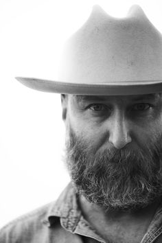 Open Road Stetson + Beard = Long Lost Brother-in-Arms.   refueledmagazine:    Refueled Publisher/Creative Director Chris Brown // Marfa, Texas // Photography by Gustav Schmiege