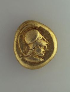 Stater. Country, issuer: Asia Minor. City of Kizik. Date: 460 - 400s b.c. Material: electrum (a natural alloy of gold and silver). Technique: chased.