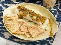 Get Fig and Pepita Goat Cheese Log Recipe from Food Network