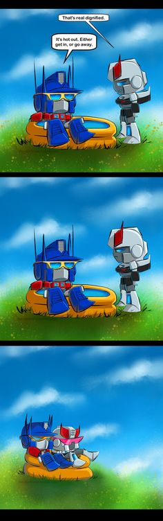 Repin. Always. <3 The CO's Pool by The-Starhorse, haha I love Optimus and Prowl