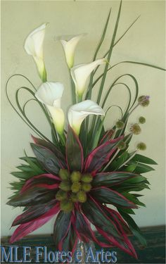 Contemporary Flower Arrangements, Tropical Flower Arrangements, Creative Flower Arrangements, Funeral Flower Arrangements, Ikebana Arrangements, Beautiful Flower Arrangements, Unique Flowers, Exotic Flowers, Tropical Flowers