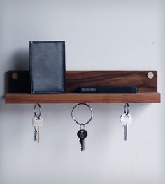 Magnetic Key Ring Holder With A Nifty Shelf. Put It By Your Front Door And
