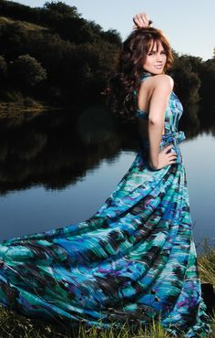 Debby Ryan. Blue Dress. Photoshoot for Regard Magazine. 2011. #fashion