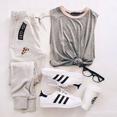 adidas, outfit, and fashion Bild Teenage Outfits, Lazy Outfits, Sporty Outfits, Teen Fashion Outfits, Cute Casual Outfits, Outfits For Teens, Summer Outfits, Girl Outfits, Hipster Outfits