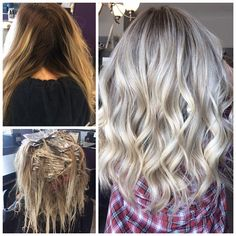 COLOR CORRECTION: Faded and Blah To A Cool Blonde Melt - Hair Color - Modern Salon