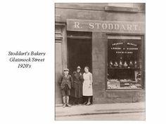 Stoddart the Baker, Glaisnock Street, Cumnock - circa 1920s.  H.