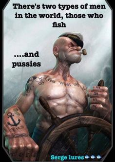 I'm Popeye the Sailor Man, . I'm Popeye the Sailor Man. I'm strong to the finich . Cause I eats me spinach. I'm Popeye the Sailor Man. Art And Illustration, 3d Illustrations, Fantasy Anime, Fantasy Art, Comic Kunst, Comic Art, Popeye Le Marin, Caricature Art, Popeye The Sailor Man
