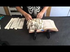 Time Lapse Video - Book Art Sculpture - YouTube - Because this is a time lapse video, to fully understand the concept, I hit pause frequently to see the tools used to complete the project. What a fun and unique sculpture!