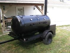 This is the building process that friends and I used to build a 250 gallon reverse flow smoker and put it on a trailer. My friends, Charlie . Bbq Smoker Trailer, Bbq Pit Smoker, Bbq Grill, Pit Bbq, Custom Bbq Smokers, Custom Bbq Pits, Build A Smoker, Homemade Trailer, Building A Dog Kennel