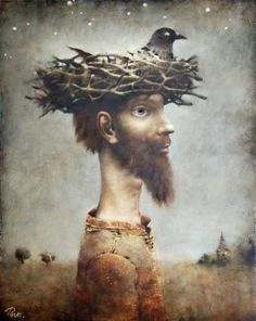 Художник Сергей Римашевский (bird, nest in art)