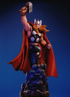This is Thor on a rock base with the enchanted hammer Mjolnior raised skyward! Description from epier.com. I searched for this on bing.com/images