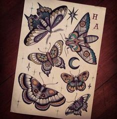 20 Ideas tattoo traditional moth insects - MY World Traditional Butterfly Tattoo, Neo Traditional Tattoo, American Traditional, Moth Tattoo Design, Tattoo Designs, Leg Tattoos, Body Art Tattoos, Tatoos, Trendy Tattoos