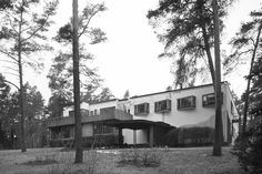 Built by Alvar Aalto in Noormarkku, Finland with date 1939. Images by Alvar Aalto. A collage of materials amongst the trunks of countless birch trees in the Finnish landscape, the Villa Mairea built b...