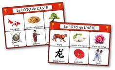 Le loto de l'Asie est un jeu aux règles simples qui permet d'acquérir le vocabulaire lié au thème de la Chine et du Japon. loto Chine