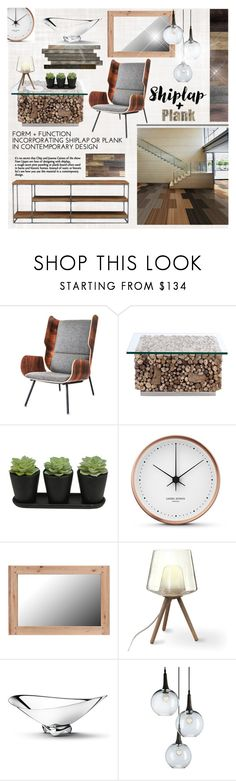 """""""Shiplap & Plank"""" by calamity-jane-always ❤ liked on Polyvore featuring interior, interiors, interior design, home, home decor, interior decorating, Georg Jensen, homedecor and homeset"""