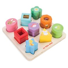 Le Toy Van Sensory Shapes - Wooden Toys - Toddler - Gifts & Toys