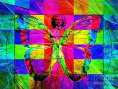 Leonardo Da Vinci Butterfly Man Dsc2969 V1 Art Print by Wingsdomain Art and Photography