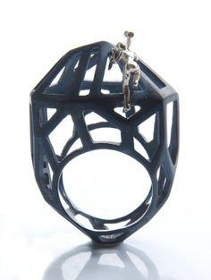 Stone Master ring  by Selda Okutan